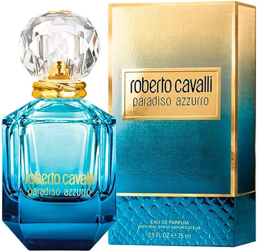 Roberto cavalli paradiso azzurro,eau de parfum,profumo per donna, 75 ml  75777059000