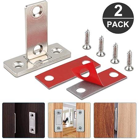 Pestillo magn/ético para puerta de armario 8 unidades con cierre magn/ético puerta corredera balconera ultrafino para puerta de armario