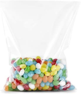 Derker 100 Count Super Clear Flat Cello Cellophane Treat Bags Gift Party Wedding Favor Bags 6x8 inch (Small)