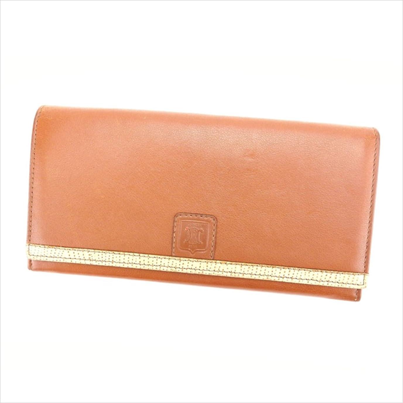 変換ギャップフリンジ(セリーヌ) Celine 長財布 がま口 ライトブラウン レディース 中古 N284