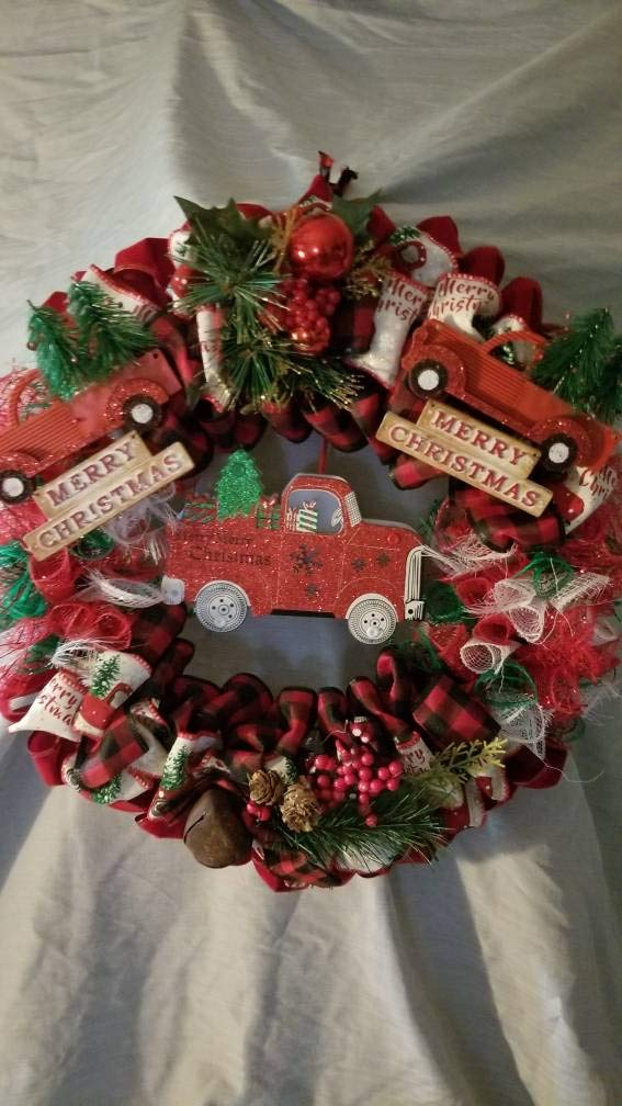 Truck Wreath Be Rapid rise super welcome