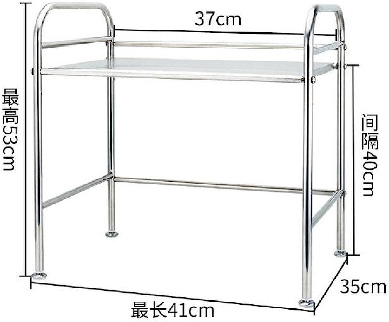 LianXiYou Shelving Unit Adjustable Folding Dressy Casters Steel Counter Shelf AS1 2 Shelves