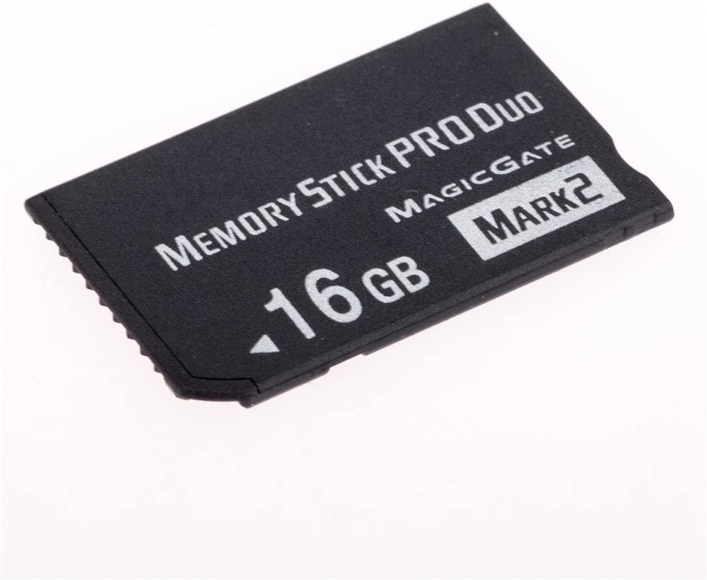 JUZHUO 16GB Memory Stick Pro Duo MARK2 Memory Stick for Sony PSP Accessories/ Camera Memory Card