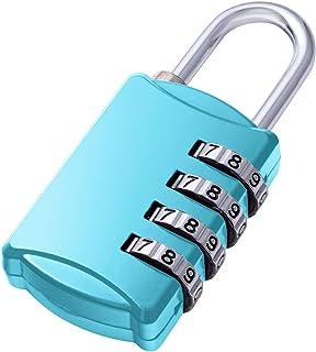 カバポスト 南京錠 ダイヤル式 盗難防止 4桁のコンビネーションロック (ベイビーブルー) LOCKS8BB