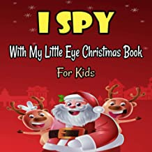 I Spy With My Little Eye Christmas Book For Kids: A Festive Coloring Book Featuring Beautiful Winter Landscapes and Heart ...