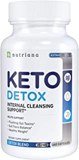 Best Keto Detox Cleanse Weight Loss Pills for Women and Men - Keto Colon Cleanser and Detox for Weight Loss - Ketogenic Di...