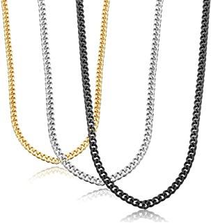 Stainless Steel Link Curb Chain Necklace for Men Women 3...