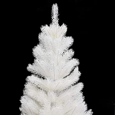 Bulufree Árbol de Navidad Artificial con Maceta Abeto árbol de Navidad Navidad para Decorar Blanco 65 cm PE