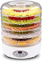 Fruit Dehydrator, Intelligent Timing Adjustable Temperature 35 to 70°C Dryer for Fresh and Dried Fruit 5 Layers Grid ABS P...