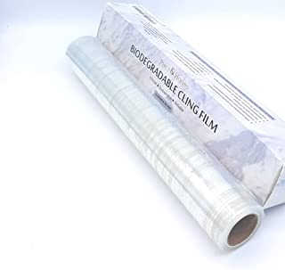 """Percy & Holmes Biodegradable Cling Film 100% Compostable Wrap 12"""" Wide by 262 feet Eco Friendly Ethical Sustainable Reliab..."""