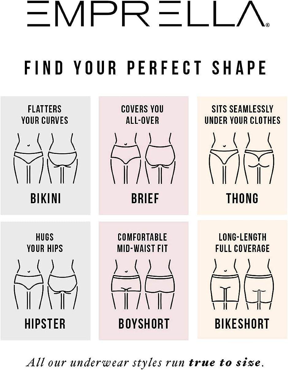 5-Pack Breathable Cotton Underwear Colors /& Patterns Vary Emprella Women/'s Boyshort Panties Seamless