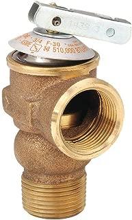 Safety Relief Valve, Brass, 3/4in., 30 psi