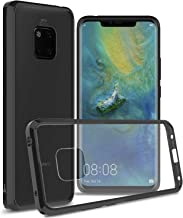 CoverON [ClearGuard Series] Huawei Mate 20 Pro Clear Case, Slim Fit Phone Cover with Clear Hard Back and TPU Bumpers for Huawei Mate 20 Pro Black S1263-CO-HWMATE20PRO-HY8-BK