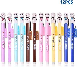 Cute Sunny Doll Pen Kawaii Black Ink Gel Japanese Pendant Emotion Ballpoint Rollerball Pens Roller Ball Fine Point Writing Stationery School Office Supply Ballpen, 12Pcs Set Arkin