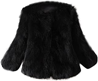 Women Faux Fur Soft Thick Coat Jacket Fluffy Winter Plush Waistcoat Outerwear