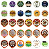Decaf Coffee Pods Variety Pack Sampler, Assorted Unflavored & Flavored Coffee Pods Compatible with Keurig K Cups Brewers, Decaffeinated Coffee Capsules, 30 Count - No Duplicates