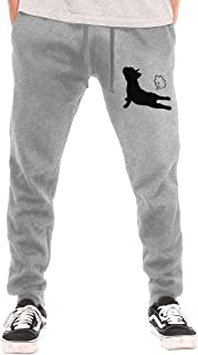Mens Jogger Sweatpants French Bulldog Yoga-1 Close Bottom Pajama Pants