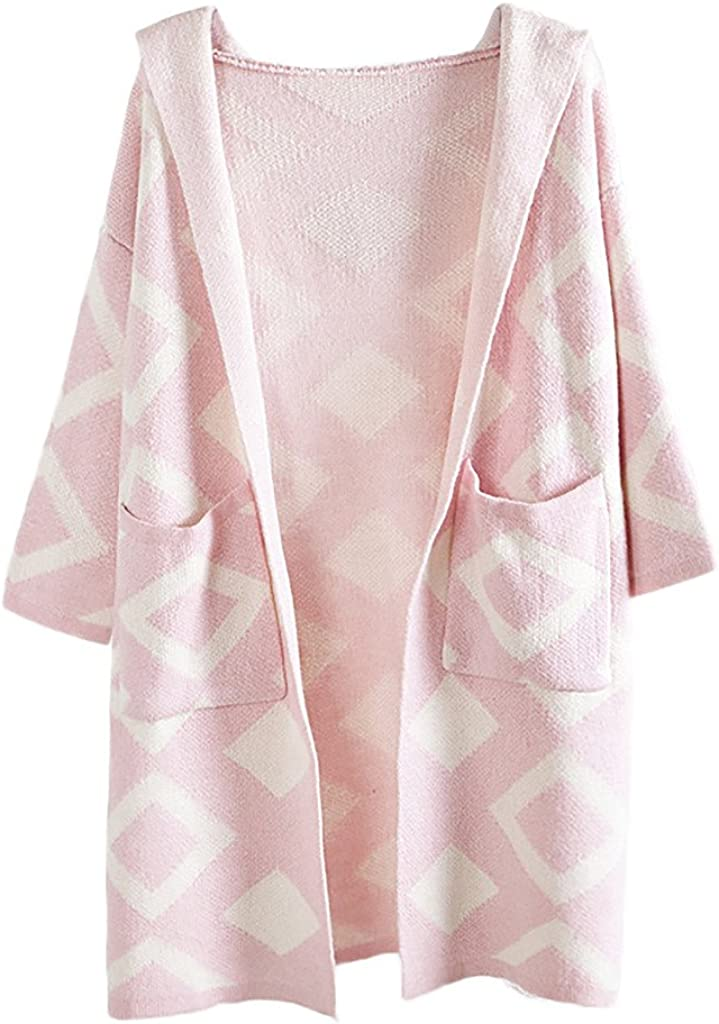 OFFicial site ZANLICE Women's Loose Hooded Kimono Sweater Cardigan For M Knit Sale