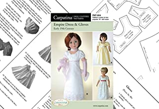 "Pattern for Empire Dress Paper - fits 18"" American Girl Dolls"