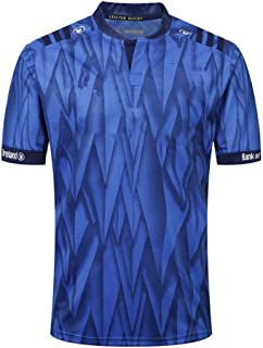 Axdwfd Rugby Suit Rugby Jersey,Leinster Rugby Suit,Home Shirt of The Athlete,2019 Cotton Jersey T-Shirt,Casual T-Shirt Clothing,Printed Top (Color : Blue, Size : XXXL)