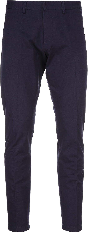 AMI ALEXANDRE MATTIUSSI Men's E18T609210410 blueee Cotton Pants
