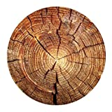 Custom Wood Grain Pattern Cloth Cover Round Mouse Pads 7.87'x7.87',One Side Printed