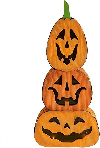JackoLantern Pumpkin Stacked Light Decor