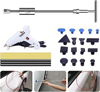 Uhomer Dellen Reparatur Ausbeulwerkzeug Set Lackfreies, Auto Dellen Reparaturset Dent Puller Tools mit T Bar Dent Abzieher für Motorrad, Waschmaschine,Spülmaschine