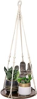 TIMEYARD Macrame Plant Shelf Hangers - Indoor Hanging Planter Decorative Pot Holder, Handmade Boho Chic Home Decor with Wood Beads