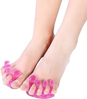 Separador de Dedos de Pies Gel 2Par Corrector de Juanetes Tratamiento de Hallux Valgus Bunion Aliviar