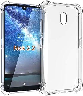 Nokia 2.2 Case, PUSHIMEI Soft TPU Crystal Transparent Slim Anti Slip Full-Body Protective Phone Case Cover for Nokia 2.2(C...