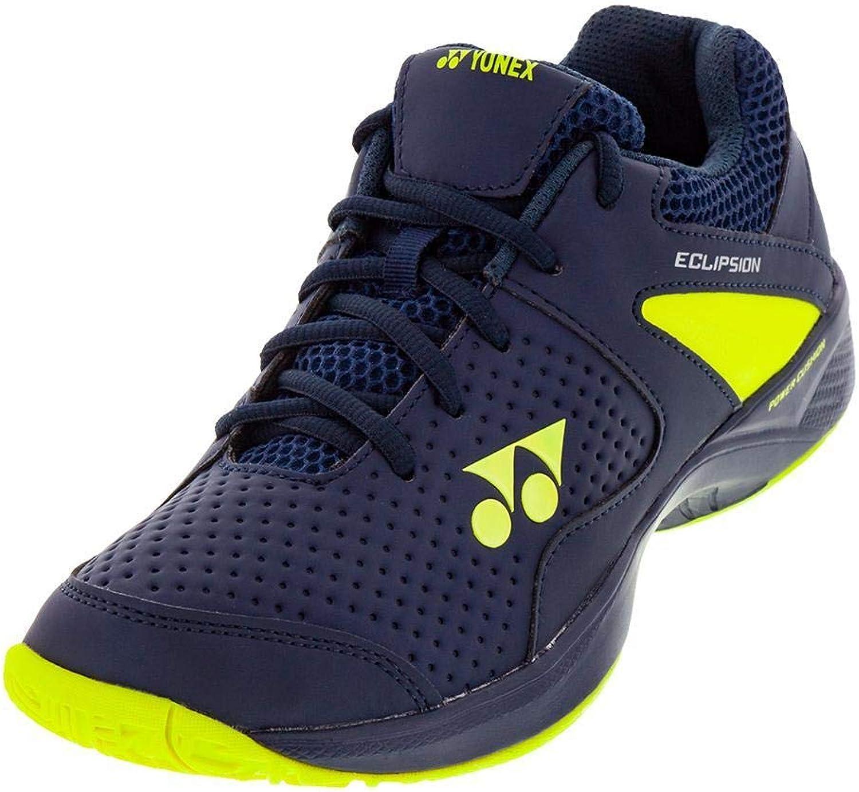 Yonex-Juniors` Power Cushion Eclipsion 2 Tennis shoes Navy and Yellow-()