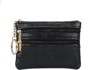 GUMAOPAJIAAAqb Monederos de Mujer, Genuine leather texture coin purse, mini soft leather hand bag, key coin card holder, s...
