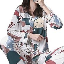 Nachthemd Voor Dames,Kleurrijke Cartoon Casual Lange Mouw Print Nachtkleding Zachte Lange Broek Loungewear Herfst Winter H...