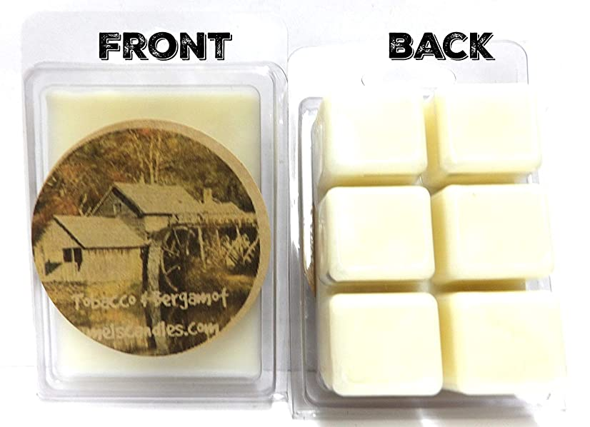 Tobacco & Bergamot 3.2 Ounce Pack of Soy Wax Tarts Wax Melts Scent Brick, Wickless Wholesale Candles