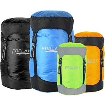 Frelaxy Compression Sack, 40% More Storage! 11L/18L/30L/45L Compression Stuff Sack, Water-Resistant & Ultralight Sleeping Bag Stuff Sack - Space Saving Gear for Camping, Traveling, Backpacking