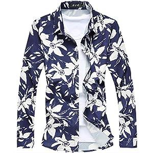 [CEEN] アロハシャツ メンズ 通気性 プリント 長袖 リゾート キレイめ サマー