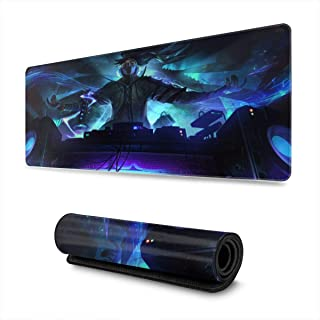Mouse Pad for Yasuo, Waterproof Mouse Mat,Extended Gaming Mouse Pad, Large Desk Mat,Non-Slip Base Anti-Dirty Stitched Edges Mousepad for Computer Black 11.8x23.6 inch