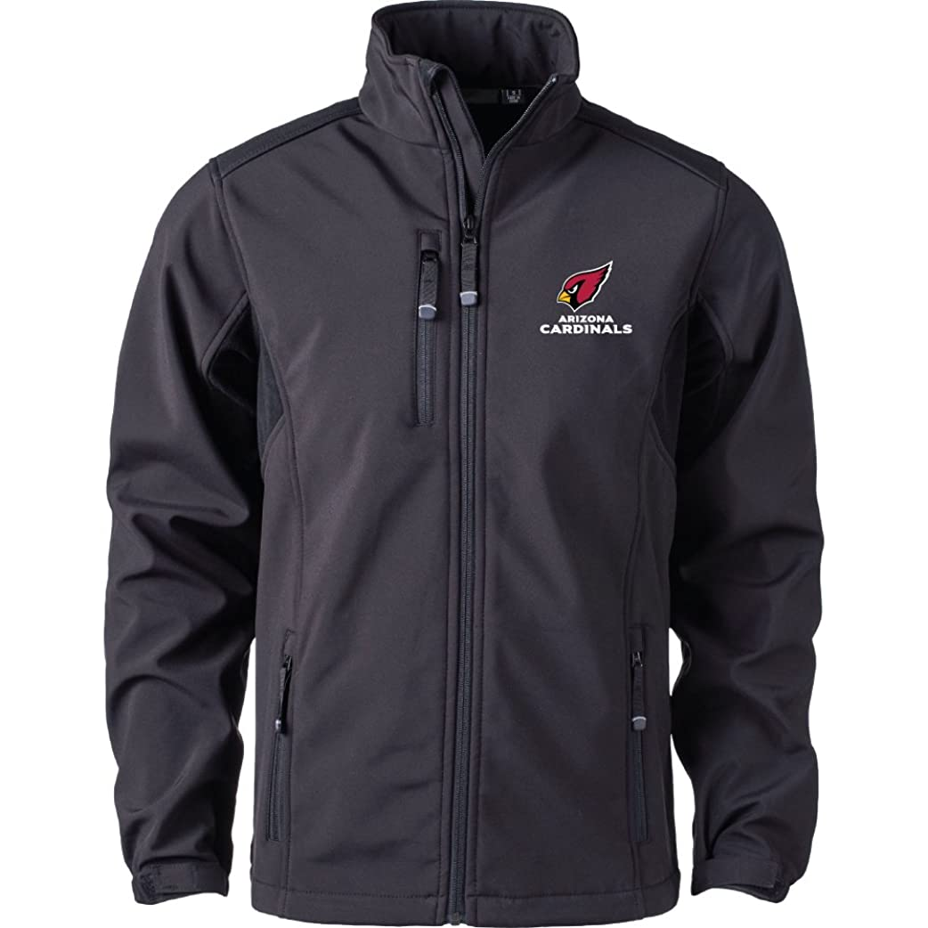 の間でデクリメントエンターテインメントNFL Arizona Cardinalsメンズソフトシェルジャケット、Large、ブラック