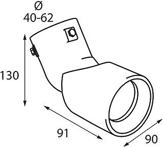 Lampa 60116Sport Endrohr mit einstellbarem Winkel, 68