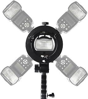 KOLIVAR S Type Halterung Halter 4 Blitzschuh Halterung mit Bowens Halterung für Speedlite Flash Snoot Softbox Beauty Dish Reflektor Regenschirm