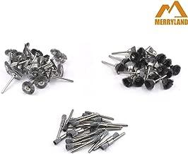 Merryland Mini Rotary Tool Accessory 72 Pcs Mini Brush Wheel Cup End Steel Brush for Electric Power Tool DIY