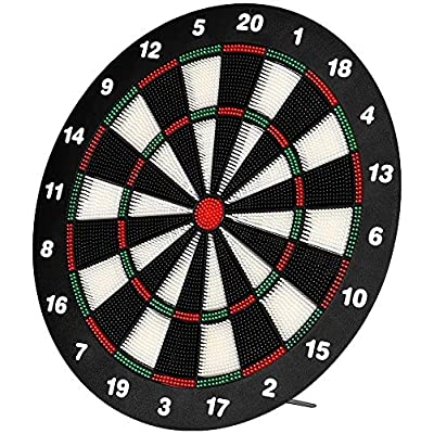 Amazon - 50% Off on Safety Dart Board Set for Kids, 16 Inch Rubber Dart Board with 6 Soft Tip Dart