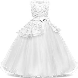 13c31a640ee1 Bestfive Girls Floor Length Princess Dresses Kids Sleeveless Wedding Party  Prom Ball Gowns Dress 5-