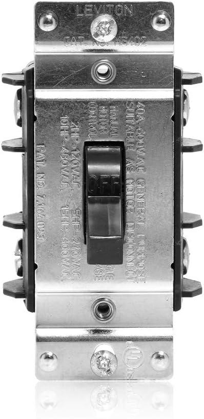 Leviton MS402-DS 40 Amp 600 Single AC Store Volt Phase Double-Pole Special Campaign