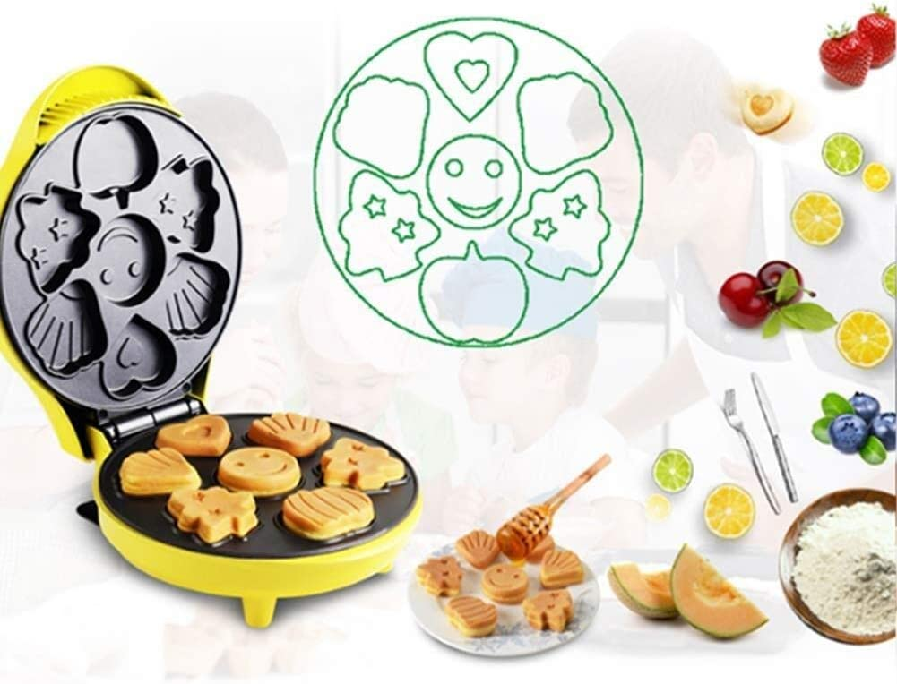 Appareils à sandwich et presses à panini Gaufrier électrique - Accueil Waffle Making Machine Makes 6 Cartoon Plateau de cuisson en forme Gaufres (Color : 100-120v) 100-120v