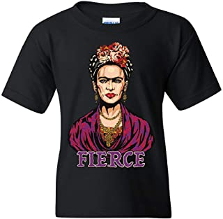 Frida Kahlo Youth T-Shirt Fierce Mexican Pop Culture Feminism Artist Kids Tee
