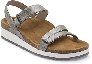 Bethany Womens Leather Quarter Strap Orthotic Sandals