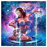 5D bricolaje constelación de diamante de pintura acuario punto de cruz signos del zodiaco bordado mosaico Kit de decoración del hogar pared arte regalos doce