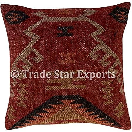 turkish kilim pillow kilim pillow washable pillow floor pillow throw pillow boho corner pillow 18 x 18 kilim pillow